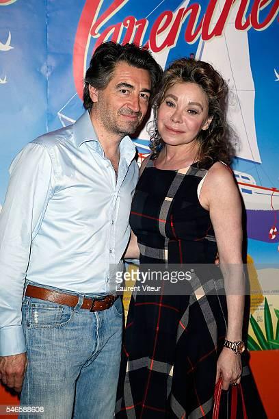 Actress Grace de Capitani and JeanPierre Jacquin attend Parenthese Paris Premiere at Cinema Gaumont Opera on July 12 2016 in Paris France