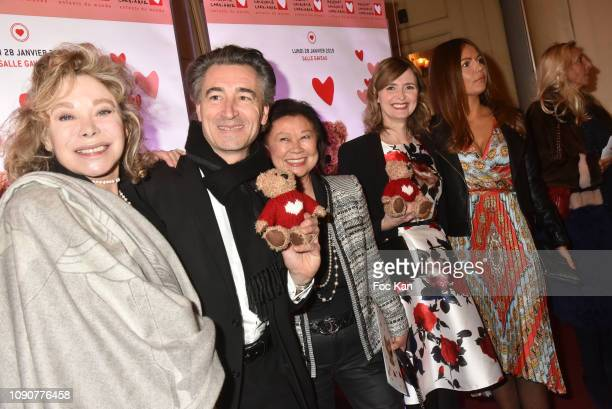 Actress Grace de Capitani Chef Jean Pierre and acquin Jeanne D Hauteserre Annabelle MilotKarine Arsene attend the Gala du CÏur Auction Concert To...