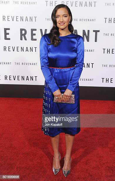 Actress Grace Dove arrives at the Los Angeles Premiere 'The Revenant' at TCL Chinese Theatre on December 16 2015 in Hollywood California