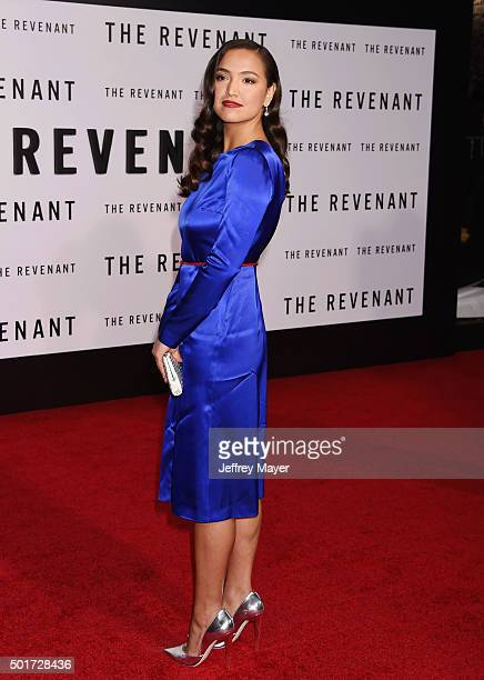 Actress Grace Dove arrives at the Premiere of 20th Century Fox And Regency Enterprises' 'The Revenant' at TCL Chinese Theatre on December 16 2015 in...