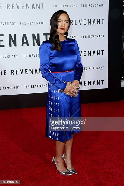 Actress Grace Dove attends the premiere of 20th Century Fox and Regency Enterprises' The Revenant at the TCL Chinese Theatre on December 16 2015 in...