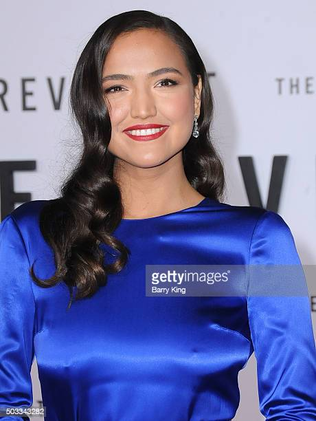 Actress Grace Dove attends the Premiere of 20th Century Fox And Regency Enterprises' 'The Revenant' at TCL Chinese Theatre on December 16 2015 in...