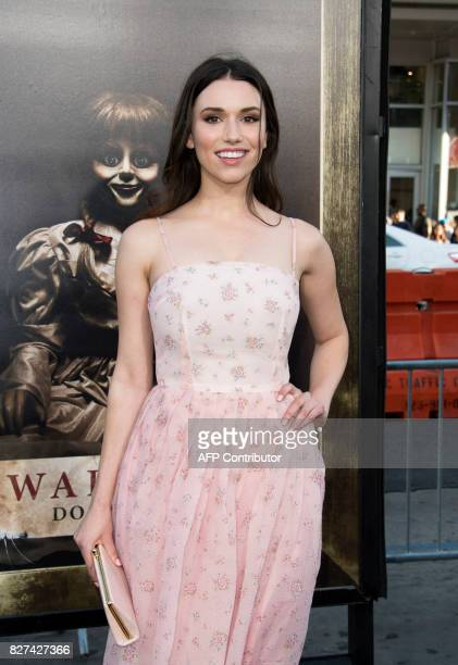 Actress Grace Fulton attends the premiere of 'Annabelle Creation' on August 7 in Hollywood California / AFP PHOTO / VALERIE MACON