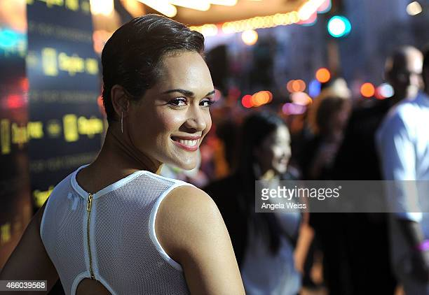 """Actress Grace Gealey arrives at Fox's """"Empire"""" ATAS Academy Event at The Theatre at The Ace Hotel on March 12, 2015 in Los Angeles, California."""