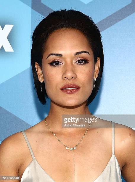 Actress Grace Gealey attends FOX 2016 Upfront Arrivals at Wollman Rink Central Park on May 16 2016 in New York City
