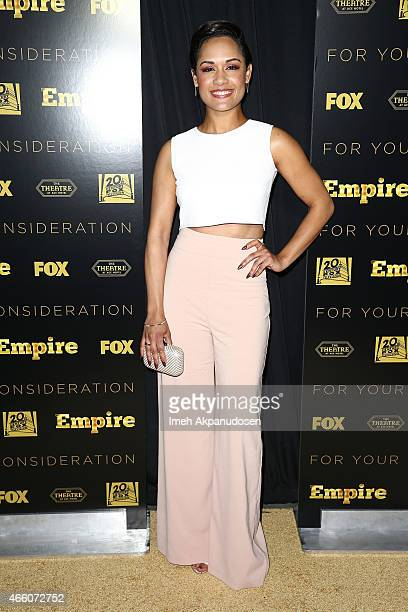 Actress Grace Gealey attends Fox's 'Empire' ATAS Academy event at The Theatre At The Ace Hotel on March 12, 2015 in Los Angeles, California.