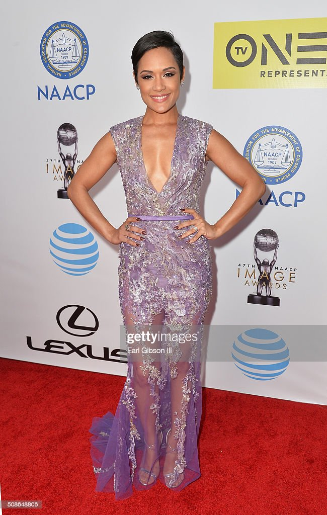 Actress Grace Gealey attends the 47th NAACP Image Awards presented by TV One at Pasadena Civic Auditorium on February 5, 2016 in Pasadena, California.