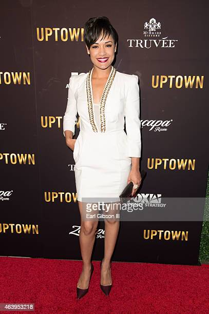 Actress Grace Gealey attends the Uptown Pre-Oscar Gala Honoring Lee Daniels at Fig & Olive Melrose Place on February 19, 2015 in West Hollywood,...