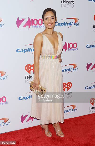Actress Grace Gealey attends the Z100's iHeartRadio Jingle Ball 2015 at Madison Square Garden on December 11, 2015 in New York City.