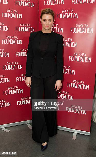 Actress Grace Gummer attends SAGAFTRA Foundation's Conversations with 'Mr Robot' at NeueHouse Hollywood on November 30 2016 in Los Angeles California