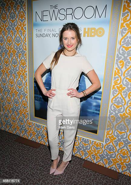 Actress Grace Gummer attends the Premiere of HBO's 'The Newsroom' Season 3 at Directors Guild Of America on November 4 2014 in Los Angeles California