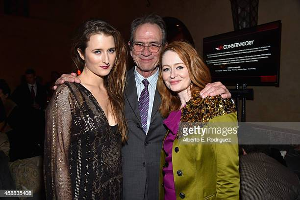Actress Grace Gummer filmmaker Tommy Lee Jones and actress Miranda Otto attend the after party for The Homesman during AFI FEST 2014 Presented By...