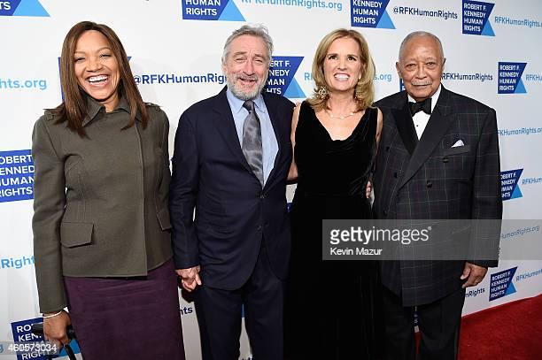 Actress Grace Hightower Honoree Robert De Niro writer Kerry Kennedy and former Mayor of New York City David Dinkins attend the RFK Ripple Of Hope...