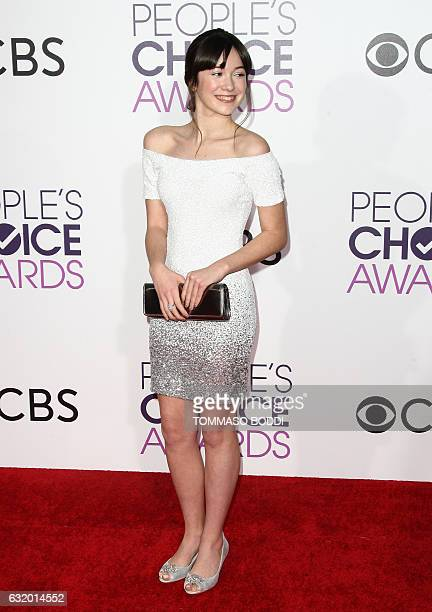 Actress Grace Kaufman arrives at the People's Choice Awards 2017 at Microsoft Theater in Los Angeles California on January 18 2017 / AFP / Tommaso...