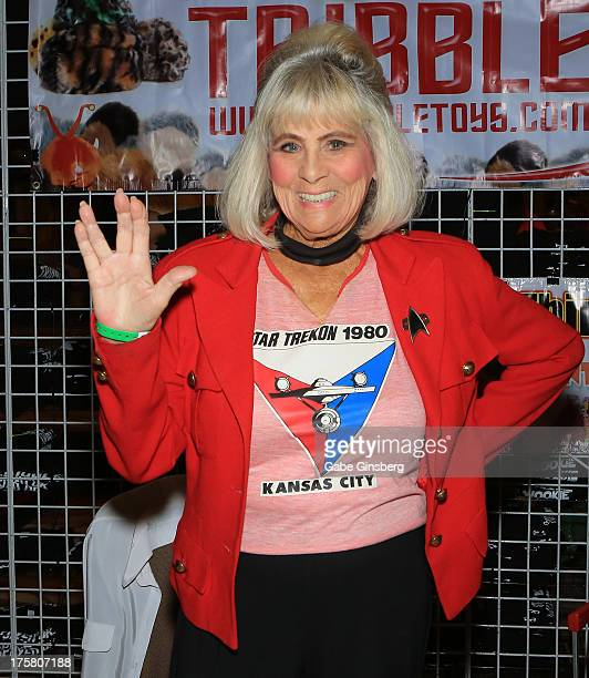 Actress Grace Lee Whitney attends the 12th annual Star Trek convention at the Rio Hotel Casino on August 8 2013 in Las Vegas Nevada