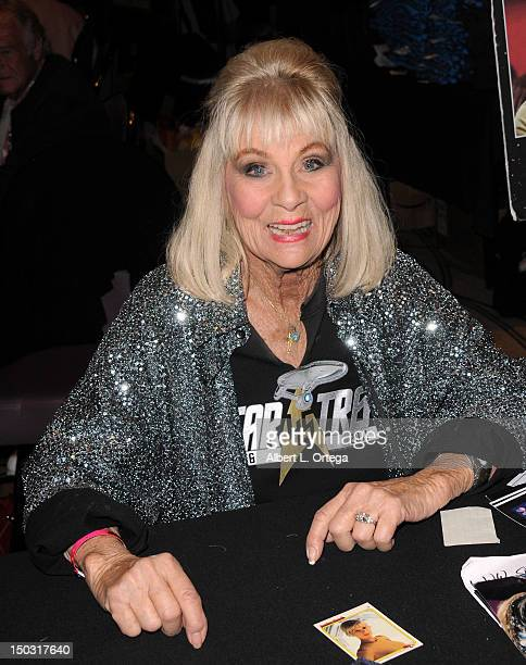 Actress Grace Lee Whitney participates in the 11th Annual Official Star Trek Convention day 4 held at the Rio Hotel Casino on August 12 2012 in Las...