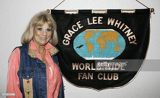 Actress Grace Lee Whitney poses at Creation Entertainment's Grand Slam XIV The SciFi Summit at The Pasadena Center on March 12 2006 in Padadena...