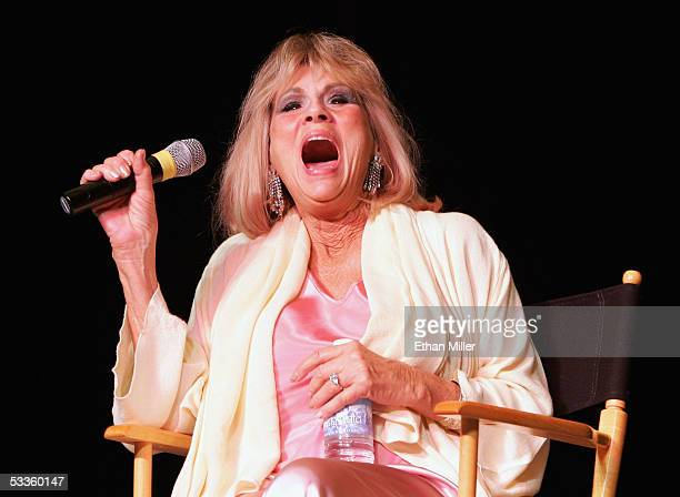 Actress Grace Lee Whitney who played Janice Rand in the original Star Trek television series and films laughs as she speaks at the Star Trek...