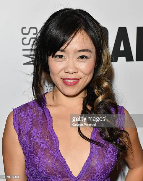 Actress Grace Lynn Kung attends Miss Sloane Toronto Premiere held at Isabel Bader Theatre on December 5 2016 in Toronto Canada