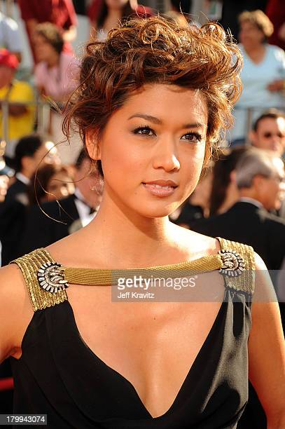 Actress Grace Park arrives at the 60th Primetime Emmy Awards at the Nokia Theater on September 21 2008 in Los Angeles California