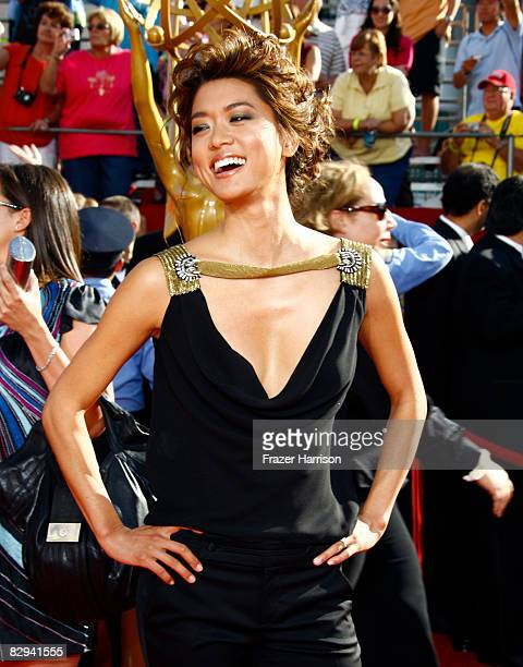 Actress Grace Park arrives at the 60th Primetime Emmy Awards held at Nokia Theatre on September 21 2008 in Los Angeles California