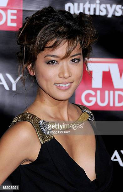 Actress Grace Park arriving at TV Guide's 6th Annual Emmy Award After Party at The Kress on September 21 2008 in Hollywood California