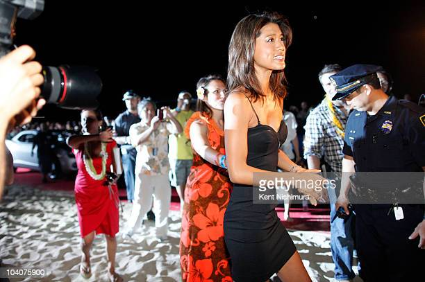 Actress Grace Park at Sunset on the Beach at Waikiki Beach for a screening of the highlyanticipated series premiere of the CBS show 'Hawaii 50' on...