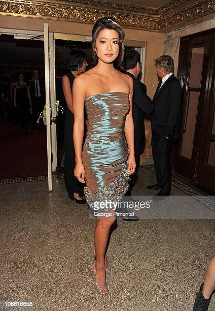 Actress Grace Park attends the 25th Annual Gemini Awards Gala at the Winter Garden Theatre on November 13 2010 in Toronto Canada