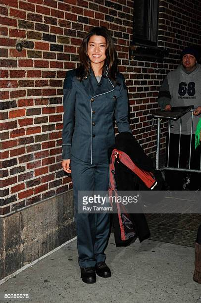 """Actress Grace Park attends the """"Late Show With David Letterman"""" taping at the Ed Sullivan Theater March 17, 2008 in New York City."""