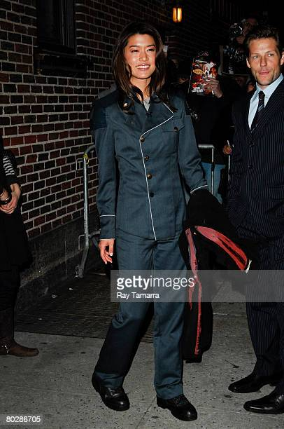 Actress Grace Park attends the Late Show With David Letterman taping at the Ed Sullivan Theater March 17 2008 in New York City