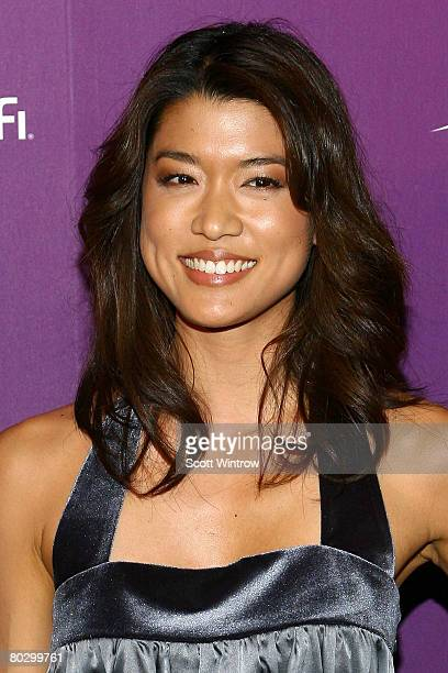 Actress Grace Park attends the Sci Fi Channel 2008 Upfront Party at The Morgan Library & Museum on March 18, 2008 in New York City.