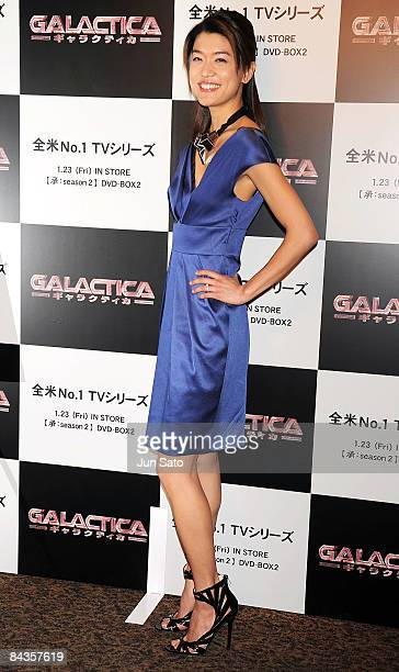 Actress Grace Park attends TV Drama series 'Galactica' special screening at Shinjuku Wald 9 on January 19 2008 in Tokyo Japan