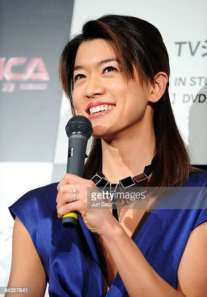 Actress Grace Park attends TV Drama series Galactica special screening at Shinjuku Wald 9 on January 19 2008 in Tokyo Japan