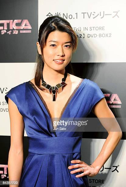 Actress Grace Park attends TV Drama series Galactica special screening at Shinjuku Wald 9 on January 19 2008 in Tokyo Japan