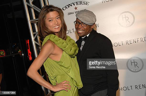 Actress Grace Park from The Border and Greta Constantine fashion designer attend the Holt Renfrew Party held at Holt Renfrew during the 2008 Toronto...