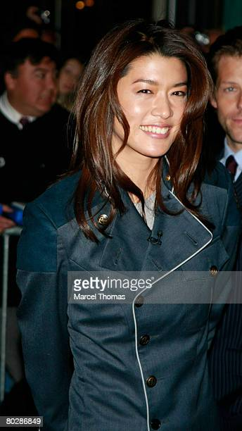 Actress Grace Park from the TV show Battlestar Galactica visits Late Show With David Letterman on March 17 2008 in New York City New York