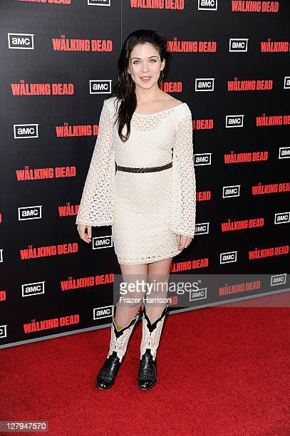 Actress Grace Phipps arrives at the premiere of AMC's The Walking Dead 2nd Season at LA Live Theaters on October 3 2011 in Los Angeles California