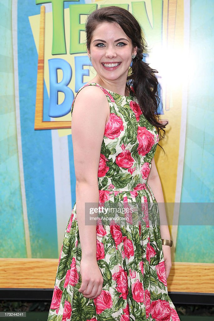 Actress Grace Phipps attends the cast of 'Teen Beach Movie' reunion for movie night at Walt Disney Studios on July 10, 2013 in Burbank, California.