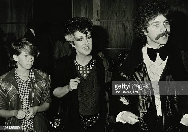 Actress Grace Slick husband Skp Johnson and daughter China Kanter attending 11th Annual American Music Awards on January 16 1984 at the Shrine...