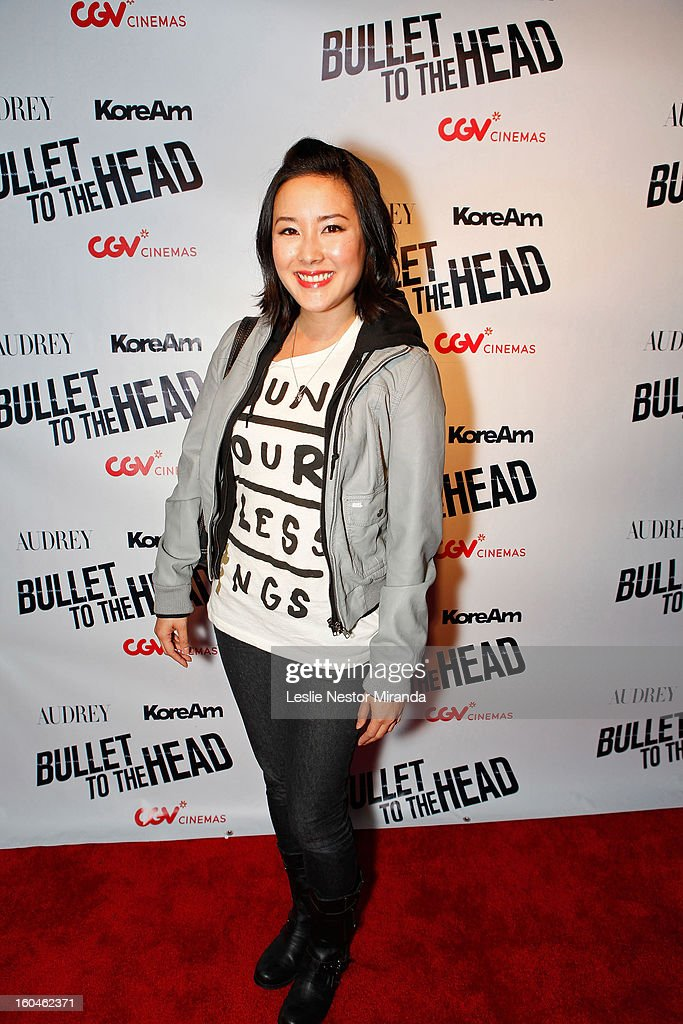 Actress Grace Su attends 'Bullet To The Head' screening at CGV Cinemas on January 31, 2013 in Los Angeles, California.