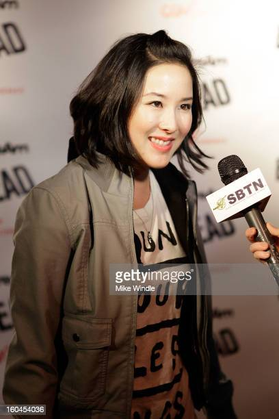 Actress Grace Su attends KoreAm Journal and Audrey Magazine's advanced screening of 'Bullet To The Head' at CGV Cinemas on January 31 2013 in Los...