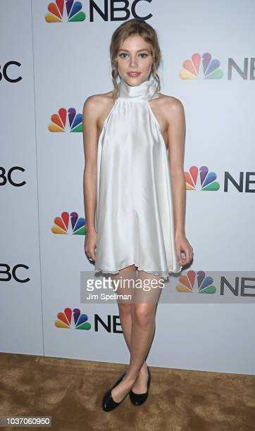 Actress Grace Van Dien attends the party for the casts of NBC's 20182019 Season hosted by NBC and The Cinema Society at Four Seasons Restaurant on...