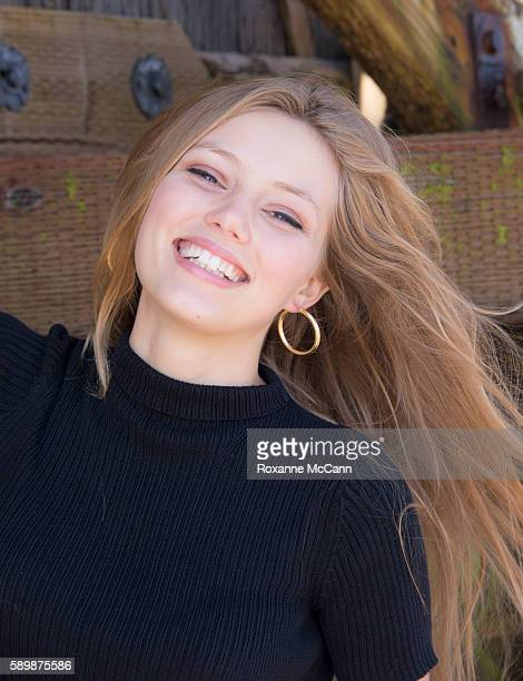 MALIBU CA JULY 22 Actress Grace Van Dien cast member of the Netflix series Greenhouse Academy poses on the beach on July 22 2015 in Malibu California