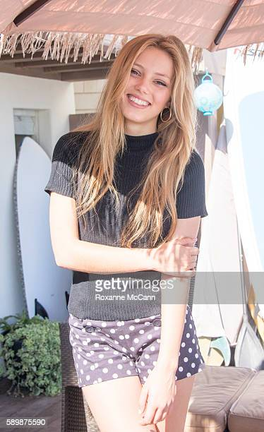 MALIBU CA JULY 22 Actress Grace Van Dien cast member of the Netflix series Greenhouse Academy poses at the beach on July 22 2015 in Malibu California