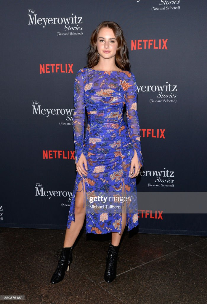 Actress Grace Van Patten attends a screening of Netflix's 'The Meyerowitz Stories (New and Selected)' at Directors Guild Of America on October 11, 2017 in Los Angeles, California.