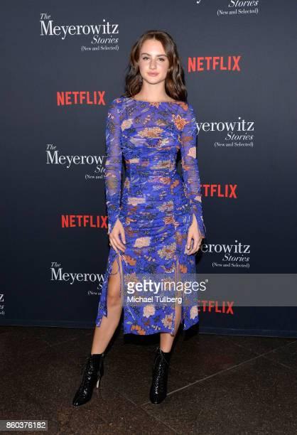 Actress Grace Van Patten attends a screening of Netflix's The Meyerowitz Stories at Directors Guild Of America on October 11 2017 in Los Angeles...