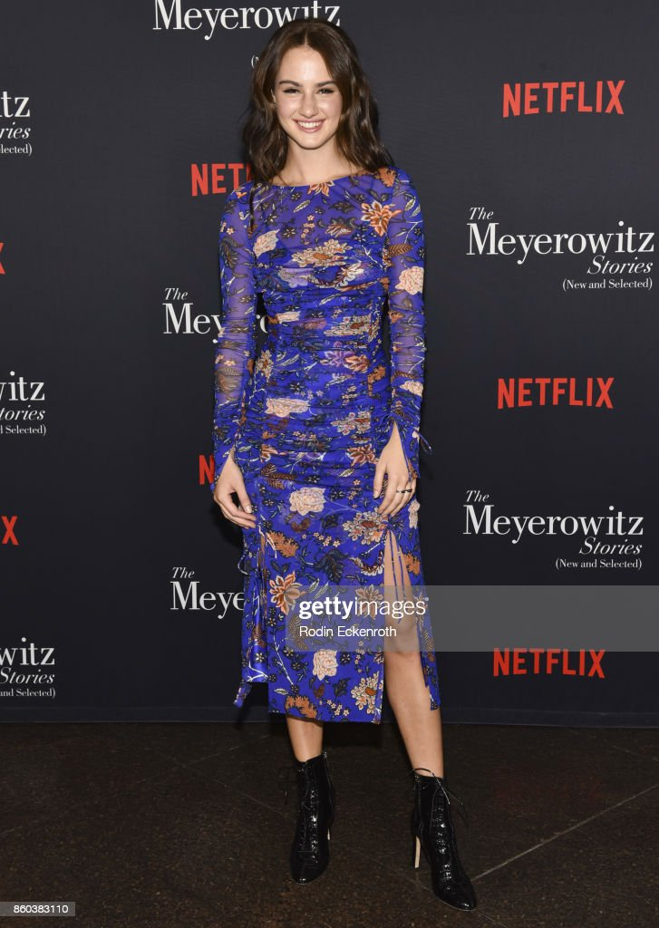 Actress Grace Van Patten attends screening of Netflix's 'The Meyerowitz Stories (New And Selected)' at Directors Guild Of America on October 11, 2017 in Los Angeles, California.