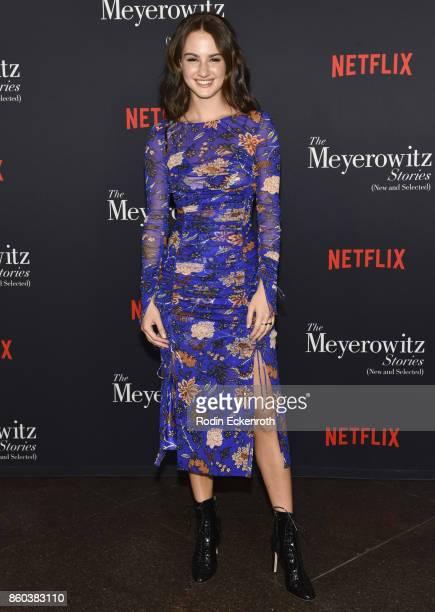Actress Grace Van Patten attends screening of Netflix's 'The Meyerowitz Stories ' at Directors Guild Of America on October 11 2017 in Los Angeles...
