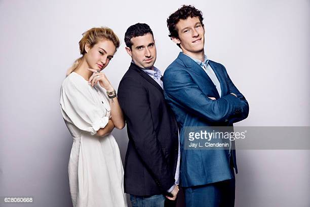 Actress Grace Van Patten director Adam Leon and actor Callum Turner from the film 'Tramps' pose for a portrait at the Toronto International Film...