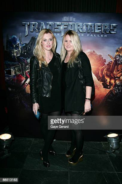 Actress Gracie Otto and Annabelle Harron attend the predrinks reception ahead of the Sydney screening of 'Transformers Revenge of the Fallen' at The...